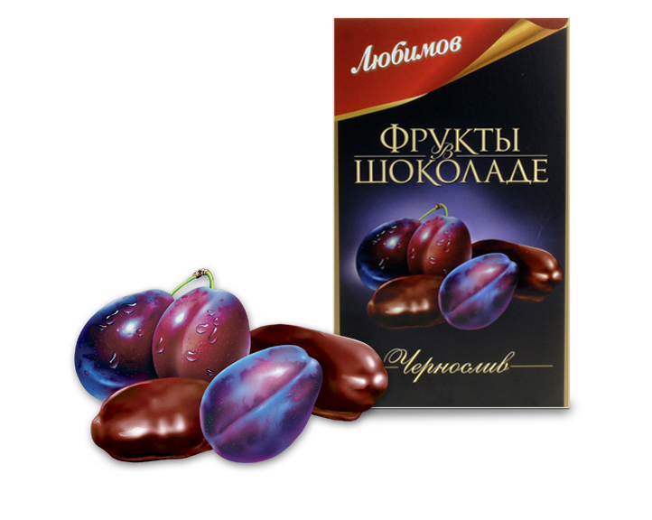 "Candy ""Lubimov Prunes in chocolate"""