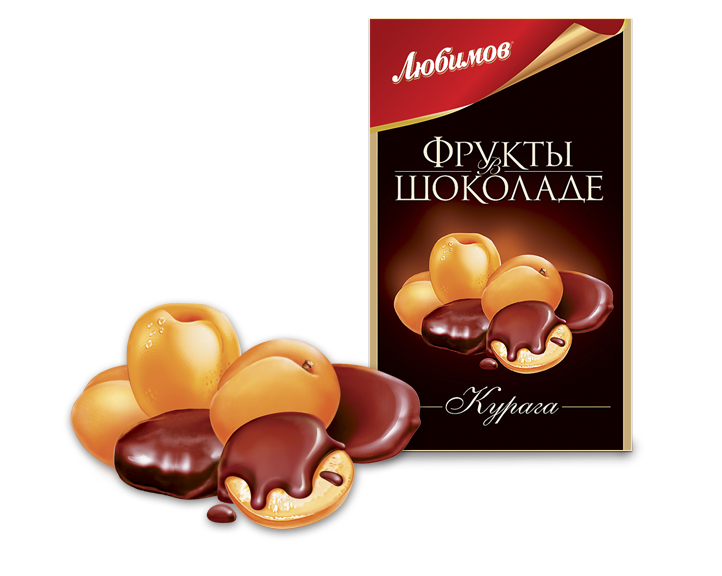 "Candy ""Lubimov Apricots in chocolate"""