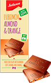 "Chocolate ""Lubimov"" milk chocolate with almonds and candied fruit"